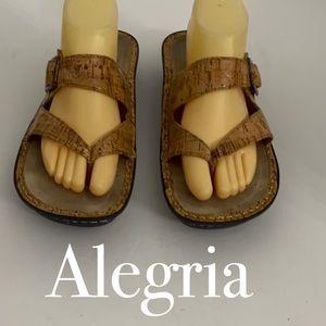 Authentic Alegria leather sandals Sz 10.5